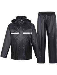 JTENG レインコート 上下セット レインスーツ レインウェア 防水 軽量 アウトドア 男女兼用 高品質 耐久性 自転車 バイク 通学 通勤