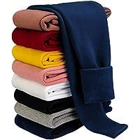 BOOPH Girls Winter Leggings Fleece Lined Toddler Kids Basic Full Length Pants