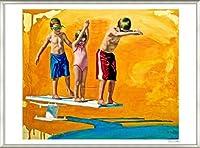 ポスター ジェイソン スティルマン The Diving Lesson 額装品 アルミ製ベーシックフレーム(ライトブロンズ)