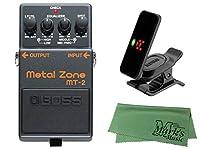 BOSS ボス - Metal Zone MT-2 + KORG Pitchclip 2 PC-2 + マークスオリジナルクロス セット