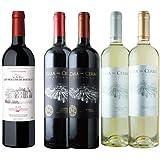 ワインショップソムリエ 金賞ボルドーと五大シャトー醸造家ワイン5本セット(赤ワイン3本・白ワイン2本)