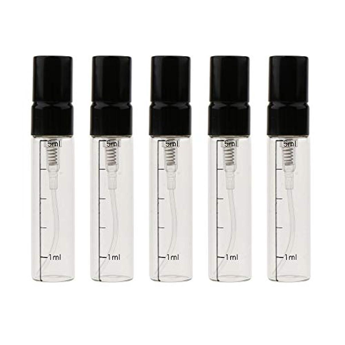 進捗議論するイルT TOOYFUL エッセンシャルオイル ボトル ガラス 5mL 香水ボトル ポンプボトル 3色選べ - ゴールド