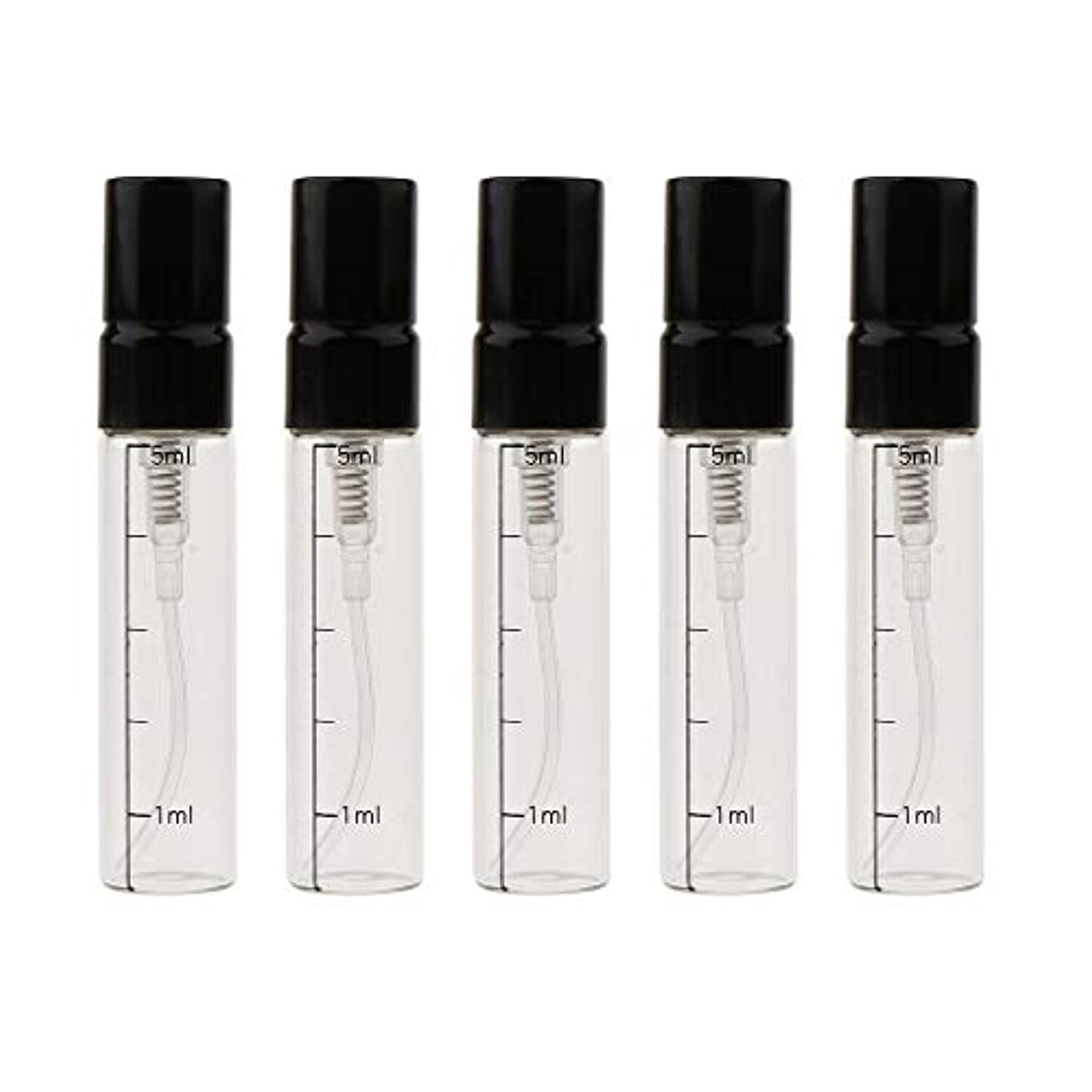 はげアコー常習的エッセンシャルオイル ボトル ガラス 5mL 香水ボトル ポンプボトル 3色選べ - ゴールド