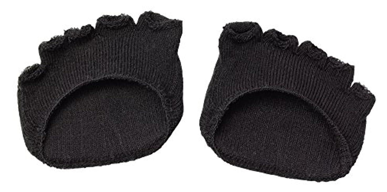 訴える罰同時綿混サラリ洗える足まめパッド(1足組) ブラック