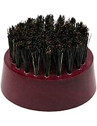 Perfeclan 合成繊維 天然木 ハンドル シェービングブラシ 高品質 除去ひげブラシ 汎用 全3色 - 紫の, 説明したように
