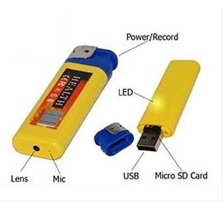 UYIKOO 音声感知機能付 4GB 1280x960 HD 100円ライター型隠しカメラ 小型ビデオカメラ 監視カメラ 動画、写真、録音対応