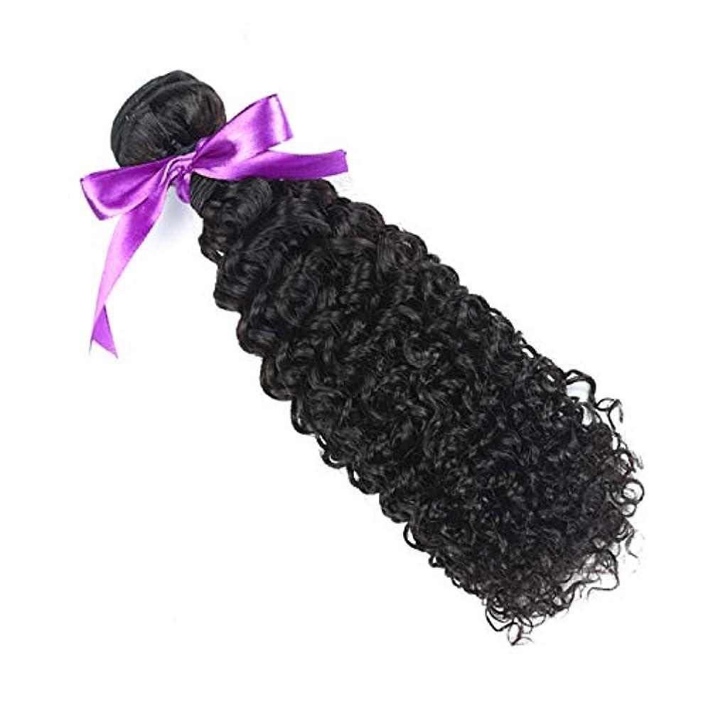 発生強要広大なマレーシアの巻き毛の束8-28インチ100%の人間の毛髪は、Remyの毛のナチュラルカラー1個の髪の束を織ります (Stretched Length : 20inches)
