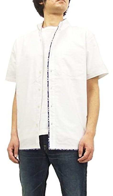 マート貫通する定義するレインスプーナー(Reyn Spooner) 半袖コンビシャツ OX03-03 メンズ オフ白×ラハイナ