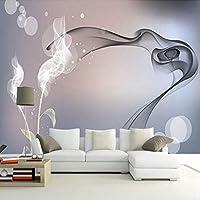 Xueshao 現代のシンプルな抽象アート煙写真壁紙リビングルームテレビの背景壁紙家の装飾3D壁壁画フレスコ画-120X100Cm