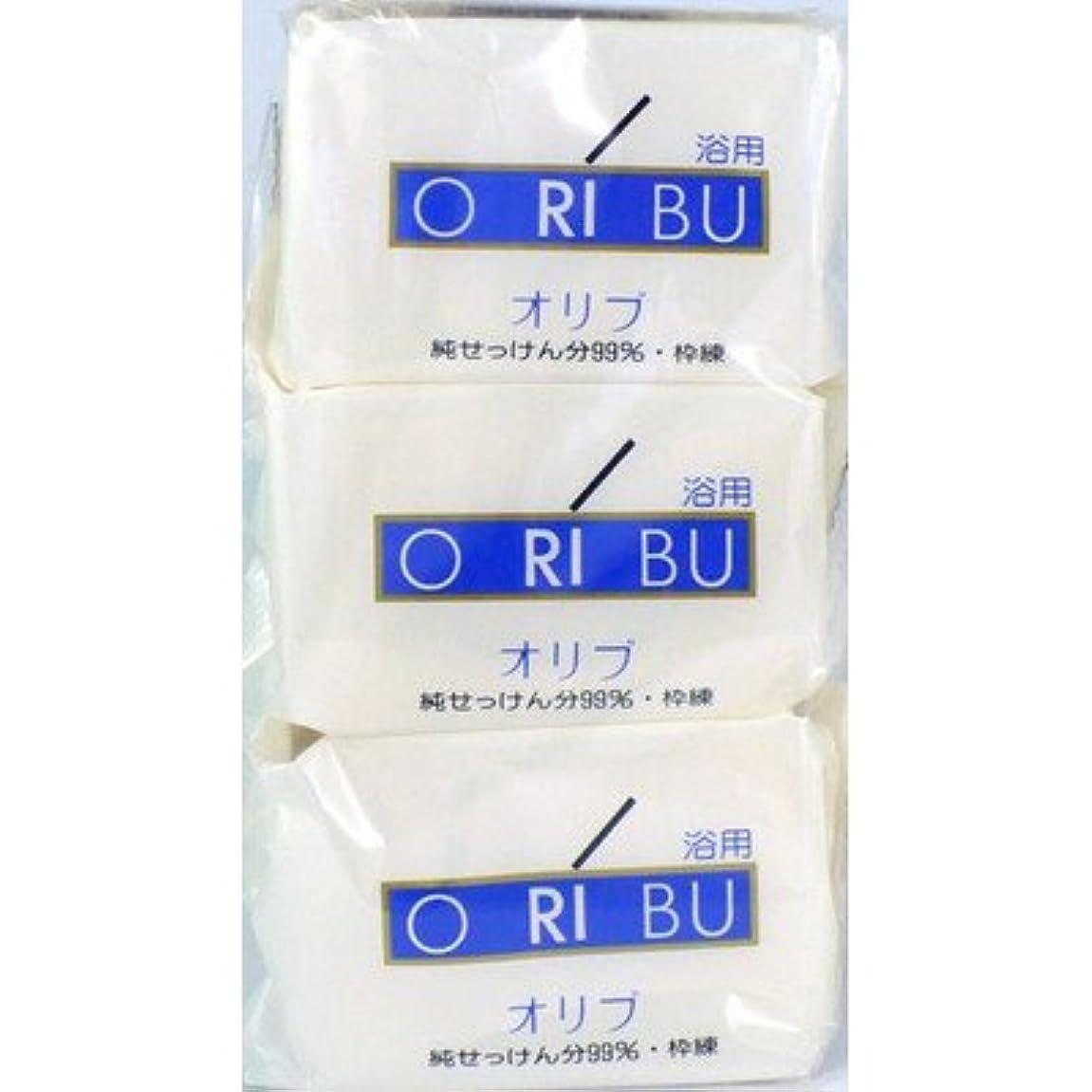 飾る乳白色十分暁石鹸 ORIBU オリブ 浴用石鹸 110g 3個入り