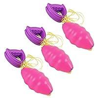 ノーブランド品 3個セット 2人 シャトル プル スピード ボール  アウトドア  インタラクション 玩具 2色3サイズ選べる - M, ピンク