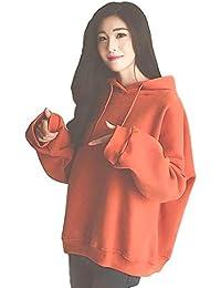 (TERA Dream) プルオーバー パーカー フード付き英字刺繍 裏起毛 選べる生地厚 カジュアル ゆったり かわいい デザイン ガールズ