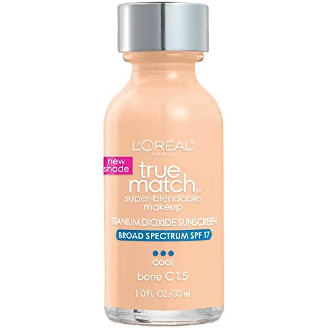 表面的な意識的メアリアンジョーンズL'Oréal True Match Super-Blendable Foundation Makeup (BONE)
