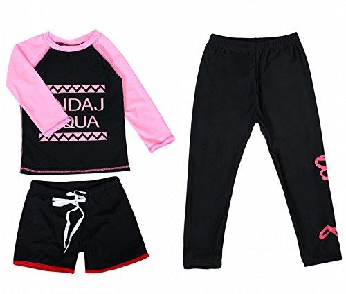 next.design 3点セット UPF50+ 子供用 ラッシュガード 水着 スイムウェア [ 上着 + ハーフパンツ + レギン...