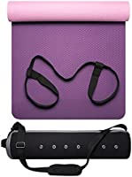 DreamYoga Yoga Mat with Carrying Strap and Premium Bag. Lightweight TPE, Large Non-Slip Exercise Mat for Yoga or Pilates...