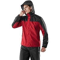 Tesla Men's Rainwear Windbreaker Packable Front-Zip Hood Jacket/Rain Pants/Jacket & Trouser Suit