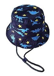(ピーキー)Peigee ベビー用ハット つば広 赤ちゃんキャップ 紫外線 UVカット キッズ 帽子 子供 サンバイザー フィッシャーマンハット 恐竜 女の子 男の子 可愛い