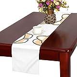 GGSXD テーブルランナー すばしこい コーギー クロス 食卓カバー 麻綿製 欧米 おしゃれ 16 Inch X 72 Inch (40cm X 182cm) キッチン ダイニング ホーム デコレーション モダン リビング 洗える