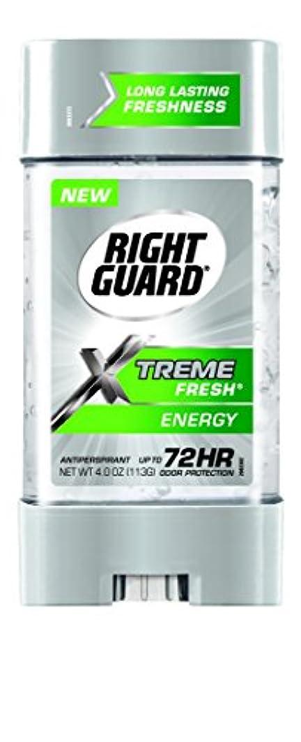 エスカレーターメーター盲目Right Guard Xtreme Fresh Invisible Gel Antiperspirant & Deodorant Energy(並行輸入品)