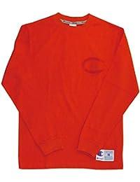 (チャンピオン) Champion ロングスリーブ ロゴ Tシャツ ロンT カットソー 刺繍ロゴ メンズ レディース L 840_Orange C3-L422