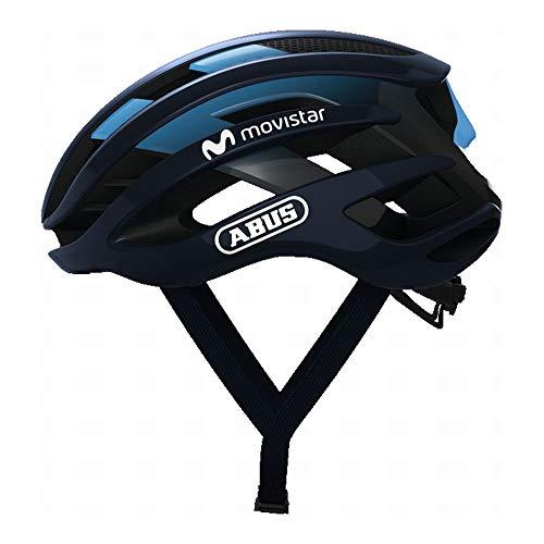 ABUS ヘルメット ロードヘルメット AIRBREAKER [エアブレーカー] JCF公認 モビスターチーム採用モデル 【日本正規品/2年間保証】 モビスターチーム Mサイズ(52~58cm)220g