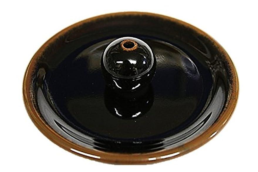 囲まれたインシデントネコ9-3 窯変黒天目 9cm香皿 美濃焼 お香たて お香立て陶器 日本製 製造 直売品