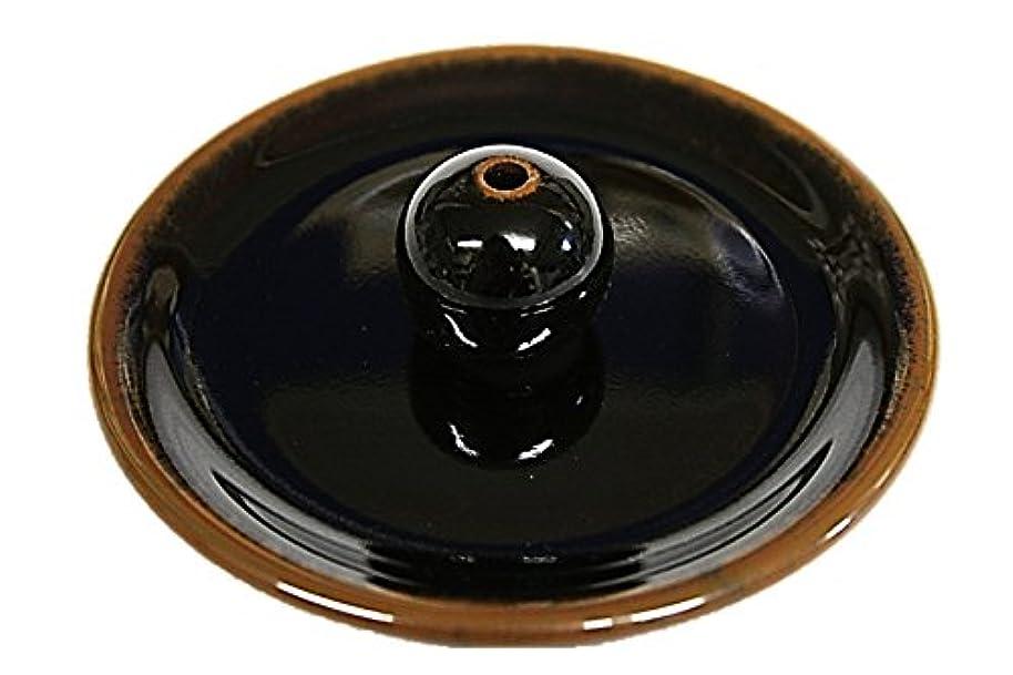 ふつう努力義務9-3 窯変黒天目 9cm香皿 美濃焼 お香たて お香立て陶器 日本製 製造 直売品