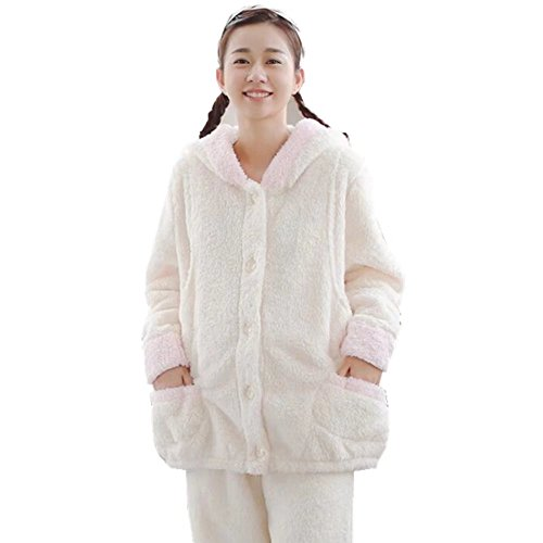 [해외](아비코) ABICO 출산 겨울 귀여운 플란넬 수유 잠옷 토끼 디자인 수유 의류 수유 입으있는 전 열고 허리 조절 실내복 두꺼운인지 룸웨어 상하 세트/(Avico) ABICO Maternity winter pretty flannel breastfeeding pajamas Usagi design Baby feeding...