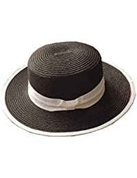 HONEY 女性の英国スタイル   夏 ジャズハット   バイザーハット 太陽の帽子 ショッピング 旅行