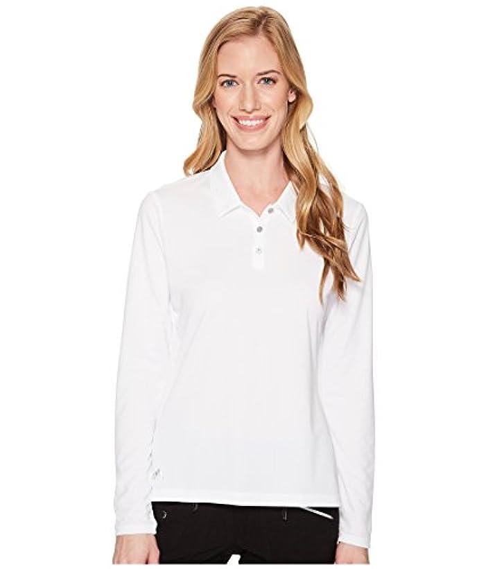 公使館プロテスタントスケート(アディダス) adidas レディースタンクトップ?Tシャツ Performance Long Sleeve Polo White M