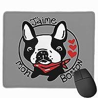Boston Terrier ボストン犬 マウスパッド 家庭 水で洗えるマウスパッド 広く操作できる 肘疲労軽減 ゲーミング パソコン作業 マウス敷 おしゃれ
