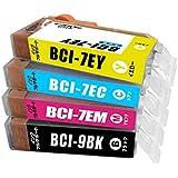BCI-7e+9/4MP 4色セット キャノン Canon 互換インクカートリッジ MP520 MP510 iP3500 iP3300 iX5000 対応 ICチップ付 1年保証付 プリンター保証付