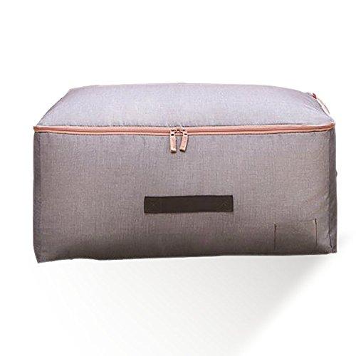 HUZVLS 収納袋 衣類 収納 押入れ収納 布団収納 衣類ケース 敷き布団 毛布収納 厚い 通気性の良い 66L (ブルー)