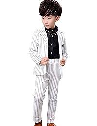 9024f0cb9d840 Amazon.co.jp  ホワイト - フォーマル   ボーイズ  服&ファッション小物