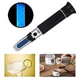 屈折計 0-80%アルコール屈折計、シングル規模測定アルコール、ATCバックライトテストツール。ブドウ栽培者、アルコール生産、蒸留酒、飲料、水とエタノール(ウイスキー、ブランデーなど)に使用 … (アルコール計)