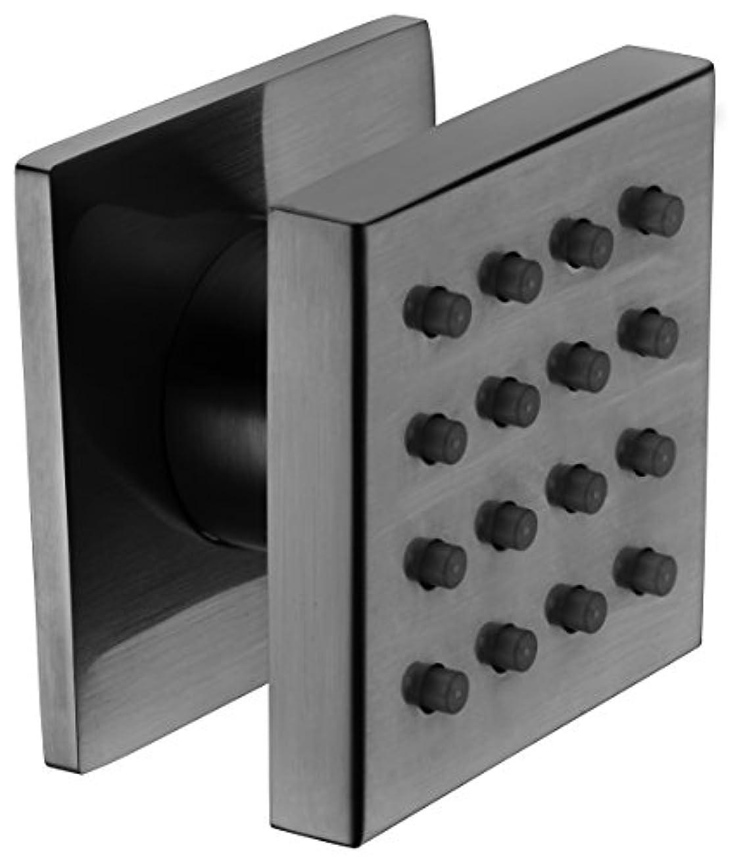 専門鉄道できたALFI brand AB4501-BN Brushed Nickel Modern Square Adjustable Shower Body Spray