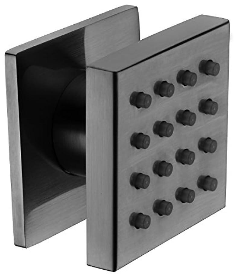 メッセンジャー寛大さ雨のALFI brand AB4501-BN Brushed Nickel Modern Square Adjustable Shower Body Spray