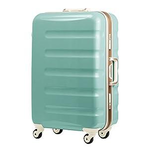 (レジェンドウォーカー) LEGEND WALKER 超軽量 スーツケース カラーフレーム 【一年安心保証】 静音キャスター TSAロック搭載 (機内持込から4サイズ) おしゃれでかっこいい キャリーバック キャリーレーザーIDオプション1500円 (MLサイズ-66cm(5~1週間), グリーンカーボン)