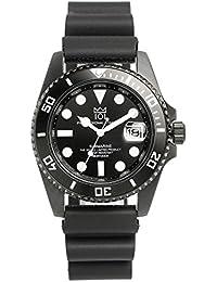 [HYAKUICHI 101] ヒャクイチ ダイバーズウォッチ 20気圧防水 腕時計 デイト 逆回転防止ベゼル ラバーベルト メンズ