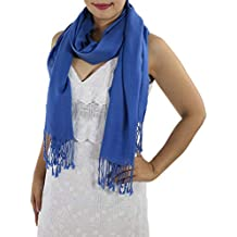 Blue Cashmere Shawl - Women's Blue Scarves