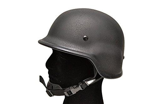 M88 PASGTタイプ 鉄製 スチール製 バリスティック フリッツヘルメット 黒 BD7894