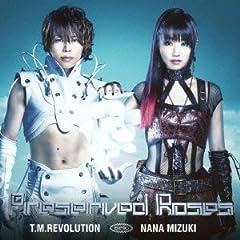 T.M.Revolution×水樹奈々「Preserved Roses -アニメバージョン-」の歌詞を収録したCDジャケット画像