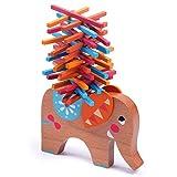 教育玩具カウント色スティックゲーム象のバランス木造子供ビルディングブロック 16.4 * 16.4 * 4.4 センチメートル