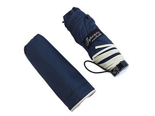 (ジャパナイス)JapaNice 折りたたみ傘 5つ折り UVカット 撥水加工 軽量 190g 紺 AQ886-N