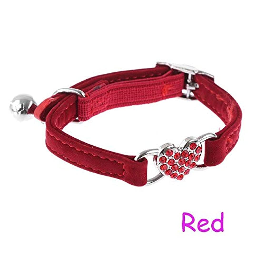 ハンカチりヒューバートハドソンQCMRD わんわん猫ソフトペットネックチェーン用1PC子犬弾性ベルハートアジャスタブルペット犬子犬の首輪ベルナイロンドットのネックレス (Color : Red, Size : ONE SIZE)