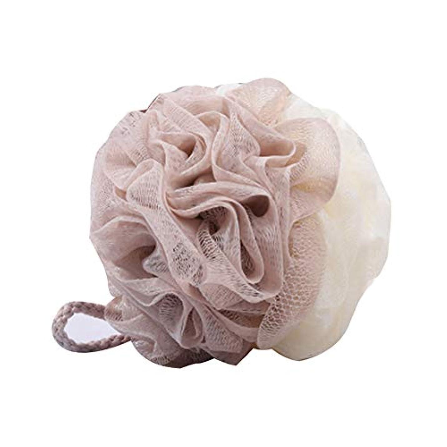 ボトルネック区別する母性Wolix ランヤードフラワーリッチフォームスポンジスクラブバブルバスボール付き2色マッチングバスボールバスブラシ