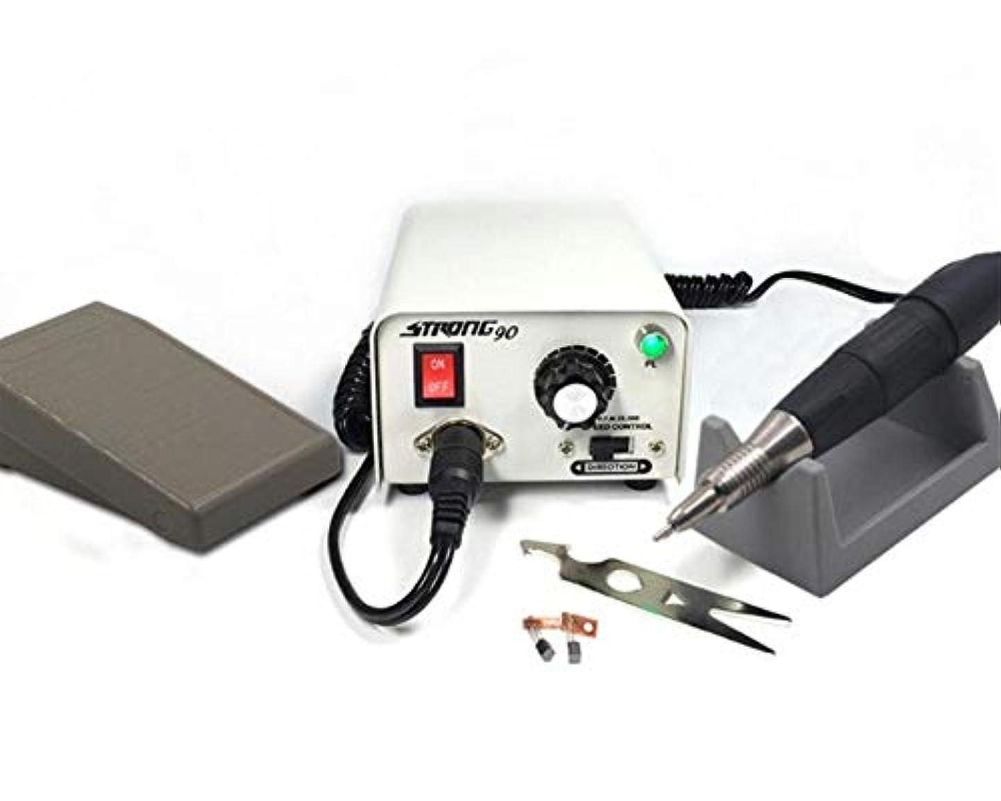 旋回処方する枠電気ネイルドリル35000 rpmネイルアート彫刻機器マニキュアペディキュアマシンネイルファイルネイルポリッシャードリルビットアクセサリー