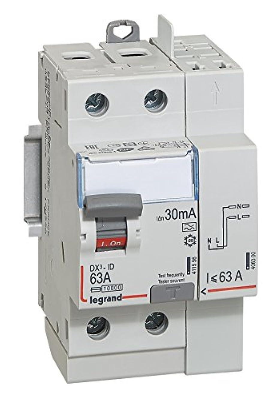 協同バックアップ内向きLegrand leg411639 dx3-id Schalter Schutzschalter 2-polig 63 A Typ A 30 mA TGA