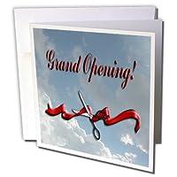 ビバリーターナービジネスデザイン–Grand Opening、ビジネス、リボンとはさみin the Clouds–グリーティングカード Set of 12 Greeting Cards