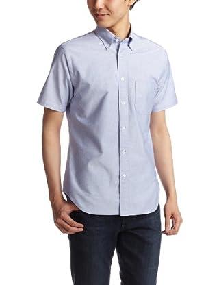 Supima Oxford Short Sleeve Butttondown Shirt 1216-218-1846: Blue
